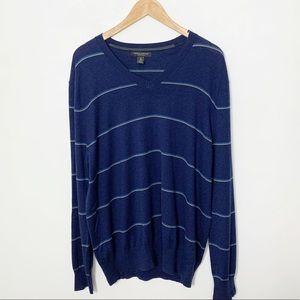 Banana Republic Luxury Blend Vneck Blue Sweater XL